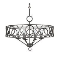 Crystorama Odette 8 Light Chandelier in English Bronze 9248-EB photo thumbnail