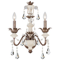 Crystorama Malibu 2 Light Wall Sconce in English Bronze with Hand Cut Crystals 9252-EB
