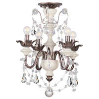 Crystorama Malibu 4 Light Semi-Flush Mount in English Bronze 9254-EB_CEILING
