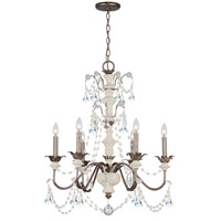 Crystorama Malibu 6 Light Chandelier in English Bronze 9256-EB