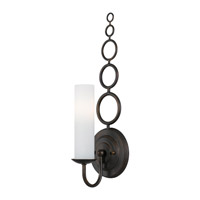 Crystorama Cameron 1 Light Wall Sconce in English Bronze 9261-EB