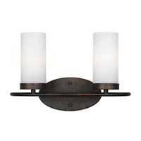 Crystorama Cameron 2 Light Vanity Light in English Bronze 9262-EB