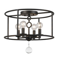 Crystorama Cameron 2 Light Pendant in English Bronze 9265-EB