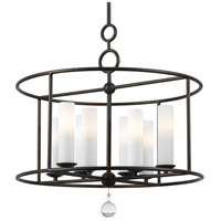 Crystorama 9266-EB Cameron 8 Light 24 inch English Bronze Chandelier Ceiling Light