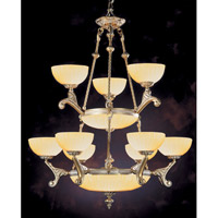 Crystorama Natural Alabaster 9 Light Chandelier in French White 930-WH