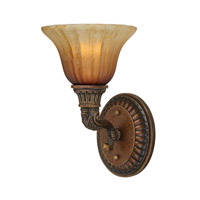 Crystorama Yorktown 1 Light Wall Sconce in Espresso 9301-ES
