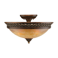 Crystorama Lighting Yorktown 3 Light Semi-Flush Mount in Espresso 9305-ES photo thumbnail