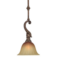 Crystorama Yorktown 1 Light Pendant in Espresso 9311-ES
