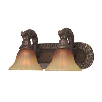 Crystorama Yorktown 2 Light Vanity Light in Espresso 9312-ES