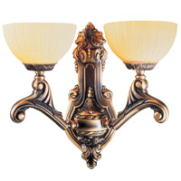 Crystorama Signature 2 Light Wall Sconce in Bronze 932-BZ