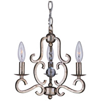 Crystorama 9347-OS Orleans 3 Light 13 inch Olde Silver Mini Chandelier Ceiling Light in Olde Silver (OS)