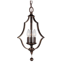 Parson 3 Light 11 inch English Bronze Mini Chandelier Ceiling Light