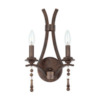Crystorama Parson 2 Light Wall Sconce in English Bronze 9352-EB
