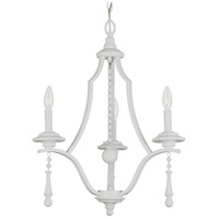 Crystorama Parson 3 Light Chandelier in Wet White 9353-WW