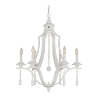Crystorama Parson 6 Light Chandelier in Wet White 9356-WW