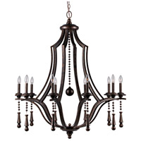 Crystorama Parson 10 Light Chandelier in English Bronze 9359-EB