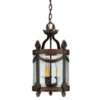 Crystorama Orleans 3 Light Foyer Lantern in Espresso 9400-ES