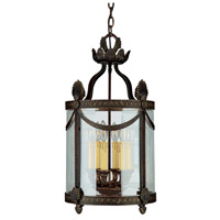 Crystorama Orleans 6 Light Foyer Lantern in Espresso 9405-ES