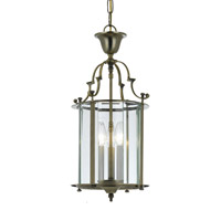 Crystorama Camden 3 Light Foyer Lantern in Antique Brass 943-AB photo thumbnail