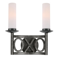 Crystorama Odette 2 Light Wall Sconce in English Bronze 9442-EB