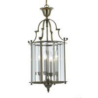 Crystorama Camden 4 Light Foyer Lantern in Antique Brass 945-AB