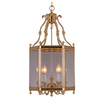 Crystorama Windsor 6 Light Hanging Lantern in Polished Brass 948-PB