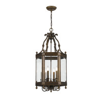 Crystorama Windsor 6 Light Hanging Lantern in Venetian Bronze 948-VB