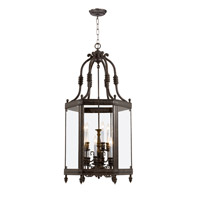Crystorama Windsor 9 Light Hanging Lantern in Venetian Bronze 949-VB