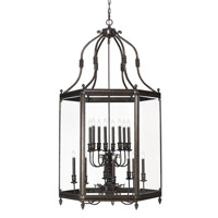 Crystorama Windsor 16 Light Hanging Lantern in Venetian Bronze 950-VB