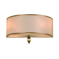 Crystorama Luxo 2 Light Wall Sconce in Antique Brass 9502-AB