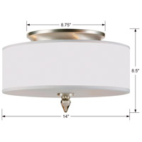 Crystorama 9503-SN Luxo 3 Light 14 inch Satin Nickel Flush Mount Ceiling Light in Satin Nickel (SN) alternative photo thumbnail