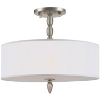 Crystorama Luxo 3 Light Semi-Flush Mount in Satin Nickel 9505-SN