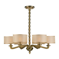 Crystorama Luxo 6 Light Chandelier in Antique Brass 9506-AB