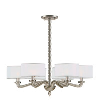 Crystorama Luxo 6 Light Chandelier in Satin Nickel 9506-SN