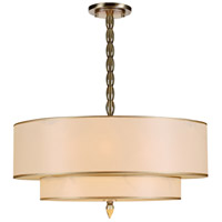Crystorama 9507-AB Luxo 5 Light 26 inch Antique Brass Chandelier Ceiling Light in Antique Brass (AB)