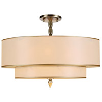 Crystorama Luxo 5 Light Semi-Flush Mount in Antique Brass 9507-AB_CEILING