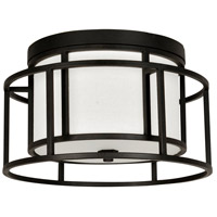 Crystorama 9590-MK Hulton 2 Light 15 inch Matte Black Flush Mount Ceiling Light