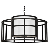 Hulton 5 Light 25 inch Matte Black Chandelier Ceiling Light, Brian Patrick Flynn