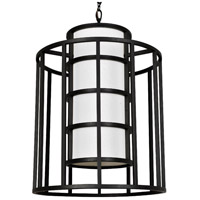 Crystorama 9597-MK Hulton 6 Light 21 inch Matte Black Chandelier Ceiling Light