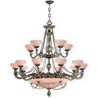 Crystorama Natural Alabaster 20 Light Chandelier in Bronze 960-BZ