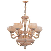 Crystorama Bravado Alabaster 9 Light Chandelier in French White 966-WH