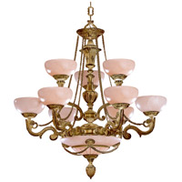 Crystorama 968-WH Signature 12 Light 34 inch French White Chandelier Ceiling Light