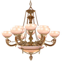 Crystorama 969-WH Signature 15 Light 40 inch French White Chandelier Ceiling Light