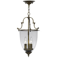 Crystorama Signature 3 Light Hanging Lantern in Autumn Brass 973-AU