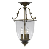Crystorama Camden 3 Light Semi-Flush Mount in Autumn Brass 973-AU_CEILING