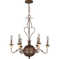 Crystorama Amelia 6 Light Chandelier in English Bronze 9766-EB