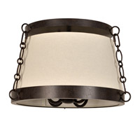 Ellis 4 Light 16 inch Charcoal Bronze Flush Mount Ceiling Light