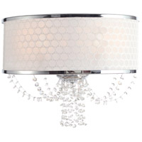 Crystorama 9802-CH Allure 2 Light 14 inch Polished Chrome Wall Sconce Wall Light in Hand Cut, Polished Chrome (CH)