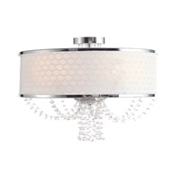 Allure 5 Light 20 inch Chrome Chandelier Ceiling Light in Hand Cut, Chrome (CH)