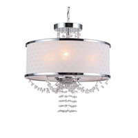 Crystorama 9804-CH Allure 3 Light 14 inch Polished Chrome Mini Chandelier Ceiling Light